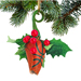Basketball Rose Christmas Ornament with Gift Box SWATCH