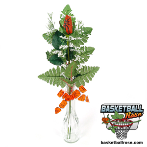 Basketball Rose Vase Arrangement MAIN