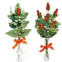 Basketball Rose Vase Arrangement - Great basketball gift for home or office THUMBNAIL