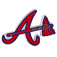 Atlanta Braves MLB Embroidered Team Logo Stickers THUMBNAIL