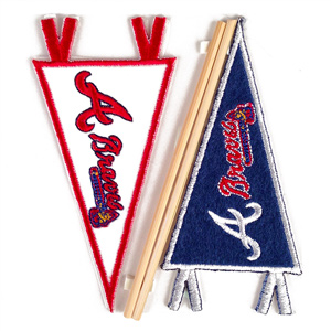 Atlanta Braves MLB Embroidered Mini Pennant Stickers_MAIN