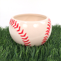 Ceramic Baseball Planter Vase_THUMBNAIL