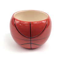Ceramic Basketball Planter Vase THUMBNAIL