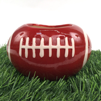 Ceramic Football Planter Vase_THUMBNAIL
