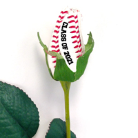 Class of 2021 Baseball Rose Long Stem - Baseball Themed Gifts THUMBNAIL