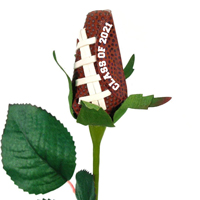 Class of 2020 Football Rose Long Stem - Football themed gifts THUMBNAIL