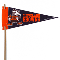 Cleveland Browns Mini Felt Pennants THUMBNAIL