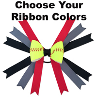 Custom Softball Hair Bow THUMBNAIL