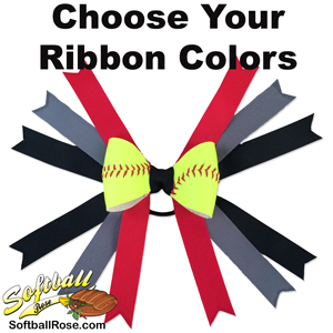 Custom Softball Hair Bow MAIN
