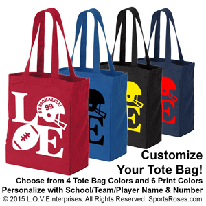 Football LOVE Canvas Tote Bag MAIN