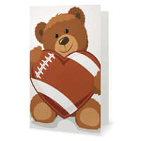 Football Heart Greeting Card THUMBNAIL