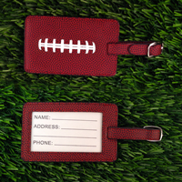 Football Leather Themed Luggage Tag THUMBNAIL