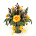 Football Rose Centerpiece Arrangment (Black and Yellow) SWATCH
