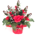 Football Rose Centerpiece Arrangement - Customizable Color Themes SWATCH