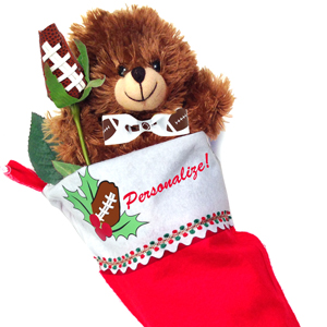 Football Rose Christmas Stocking Stuffer Gift Set MAIN