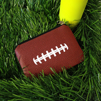 Football Themed Coin Purse THUMBNAIL
