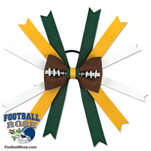 Football Hair Bow - Green Bay MAIN