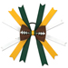 Football Hair Bow - Green Bay SWATCH