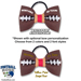 Basic Football Hair Bow - Maroon and White SWATCH