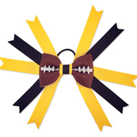 Football Hair Bow - Pittsburgh THUMBNAIL