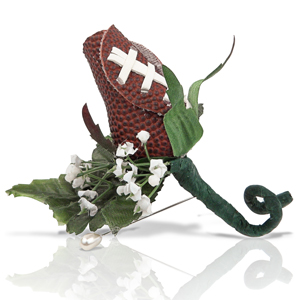 Football Rose Boutonniere MAIN