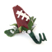 Football Rose Boutonniere SWATCH