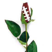 Football Rose Long Stem - Football themed gifts_THUMBNAIL