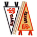 MLB Embroidered Mini Pennant Stickers Mini-Thumbnail