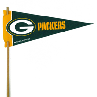 Green Bay Packers Mini Felt Pennants THUMBNAIL