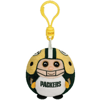 Green Bay Packers Beanie Ballz Clip THUMBNAIL