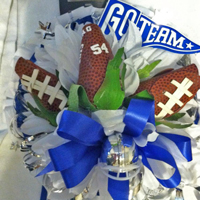 Football Rose Homecoming Boutonniere and Corsages