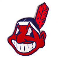 Cleveland Indians MLB Embroidered Team Logo Stickers_THUMBNAIL