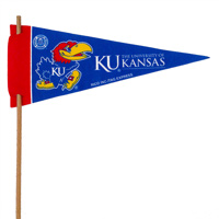 Kansas Jayhawks Mini Felt Pennants_THUMBNAIL