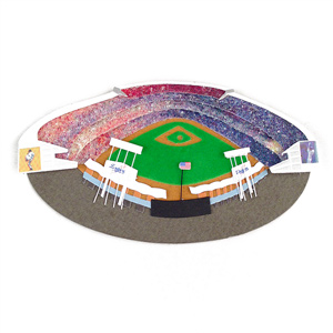 Los Angeles Dodgers Stadium 3D Ballpark Scrapbook Sticker MAIN