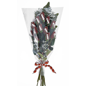 "Football Rose ""Hail Mary"" Bouquet (12 Roses) MAIN"