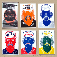 Left Field Cards Marvelous Moustaches Baseball Cards Pack 2 THUMBNAIL