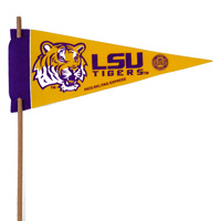 LSU Tigers Mini Felt Pennants THUMBNAIL