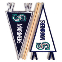 Seattle Mariners MLB Embroidered Mini Pennant Stickers THUMBNAIL