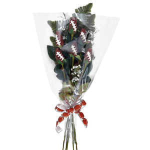 "Football Rose ""Touchdown"" Bouquet (6 Roses) MAIN"
