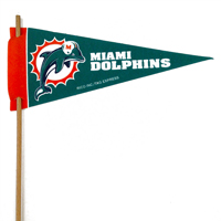 Miami Dolphins Mini Felt Pennants THUMBNAIL