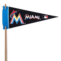 Miami Marlins Mini Felt Pennants THUMBNAIL