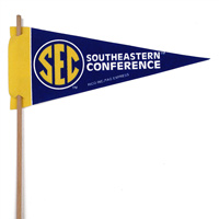 SEC Mini Felt Pennants THUMBNAIL