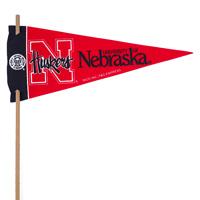 Nebraska Huskers Mini Felt Pennants THUMBNAIL