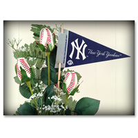 Baseball Gifts|New York Yankees Flower Arrangements and Gifts