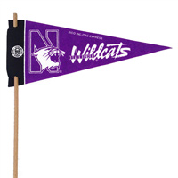 Northwestern Wildcats Mini Felt Pennants THUMBNAIL