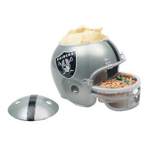 Oakland Raiders Snack Helmet Vase Planter MAIN