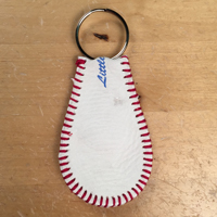 Genuine Leather Baseball Keychain_THUMBNAIL