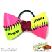 Pink/Yellow Softball Hair Bow - Customizable SWATCH