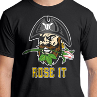 Baseball Rose Pirate T-Shirt THUMBNAIL