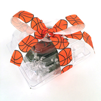 Basketball ribbon 7/8 inch grosgrain THUMBNAIL
